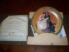 """1985 Bradford Exchange Plate """"A Couple'S Commitment"""" By Norman Rockwell #12744J"""