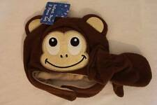 NEW Infant Boys Trapper Critter Hat Mitten Set Brown Monkey Fleece Ear Flaps Cap
