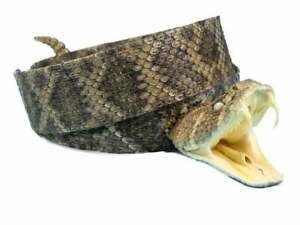 """Rattlesnake Hat Band with Head & Rattle  1.25"""" Width (598-HB204) B5"""
