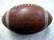VINTAGE LATE 1960'S-EARLY 1970'S GAME USED CFL SPALDING J5V FOOTBALL JG GAUDAUR