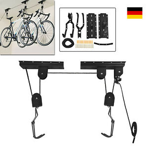 Fahrradlift Fahrradhalter Decke Fahrradaufhängung 20kg Deckenhalter Seilzug Pro.