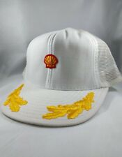 Shell Oil Snapback Patch Hat Cap Mesh Trucker Scrambled Eggs Vintage USA