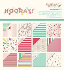 My Minds Eye Hooray Paper Pad 6x6