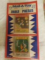 Vintage Mail-A-Toy Puzzles Rocket Moon Planet Space Golf 1950's Post Card Jiggle