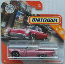 Matchbox 1957 Ford Thunderbird T-Bird Cabrio mauvemetallic Neu/OVP Oldtimer ´57