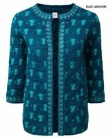 Cotton Traders Quilted Elephant Jacket Blue Lagoon UK 16 LN192 HH 13
