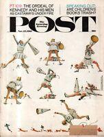 1961 Saturday Evening Post November 25 Cheerleading - Norman Rockwell; Seattle