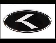 Hood Trunk K Logo LED Emblem Badge 2Way Chrome Round 2PC For Kia Stinger 18~19+
