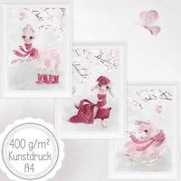 Fashion LAMA Kinderzimmer Babyzimmer Bilder Set Bild Nursery Print Kunstdruck A4