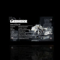 Display plaque for Lego Liebherr R 9800 Excavator 42100 (AUS Top Rated Seller)