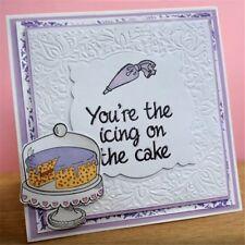 Gâteau Transparent Silicone Cake / Seal pour album de scrapbooking Decor DIY FR