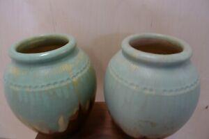 Vase Turnad Paris Studio Pottery Modernist Ceramic Art Pair