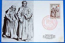 LA MENDIANTE AUX BEQUILLES     1957  Yt  1141  Carte Postale Maximum