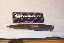BERRETTA  BULLET PART SERRATED LOCK BLADE KNIFE MADE IN SEKI JAPAN NEW IN BOX