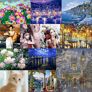 DIY Canvas Oil Art Picture Home Wall Decor Painting By Numbers Kit Wall Decor