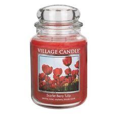 Village Candle Large Jar Premium 26oz 2018 Range Scarlet Berry Tulip Fragrance