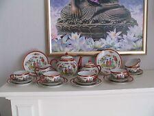 Asien  Chinesisches Teeservice Porzellan mit Geisha 6 Personen  21teilig
