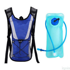 Blue Durable Foldable Hydration System 2L Hiking Water Bladder Bag UN3