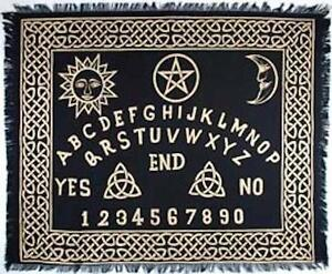 """Ouija Board Altar Cloth 24"""" x 30"""" in Black and Gold!"""