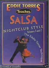 DVD Eddie Torres TEACH SALSA NIGHT CLUB STYLE volumen I & II 2 dvds 104 minutes