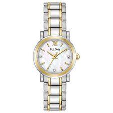 Bulova 98P165 Women's Ladies Diamond Mother of Pearl Quartz Watch