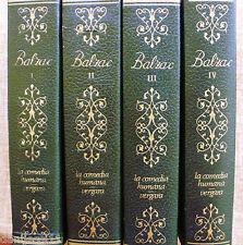 Lote de 4 tomos de la comedia humana/ Balzac/ 1969/ Editorial Vergara