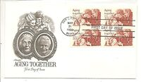 US SC # 2011 Aging Together  FDC. Block Of 4 , Artmaster Cachet.
