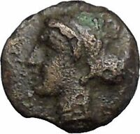 Boione in Aiolis 300BC Rare Authentic Ancient Greek Coin Female BULL  i49030