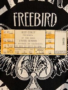 LYNARD SKYNYRD 1977 Post Crash Unused Concert Ticket for Omni Atlanta MINT Rock