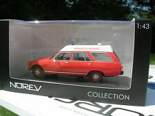 NOREV 1/43 METAL POMPIERS PEUGEOT 504 BREAK AMBULANCE 1979!!!