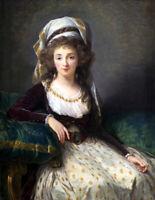 European classical portrait oil painting Canvas Giclee Art Print L2181