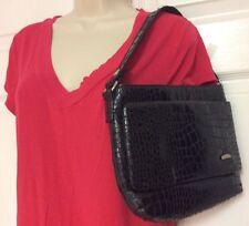 Travelon organizer black reptile pattern handbag hobo security feature H17