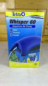 Whisper 60 Air Pump With Minimal Noise Tetra Water Fish Tank Aquarium Filter NEW