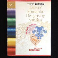Bernina Embroidery Designs Card #526 Lace & Romantic Designs for Artista series