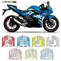 "12 PCS 17"" Wheels Edge Outer Rim Sticker Stripe Wheel Decals For suzuki GSX-R-8S"