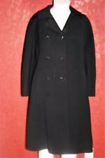 Hudson'S Coat By Krull /Woodward Shops Black Double Breasted