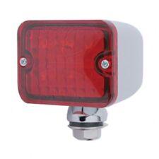 6 Red Led Medium Rectangular Chrome Rod Light w/ Red Lens - 12V - Hot Rat Rod