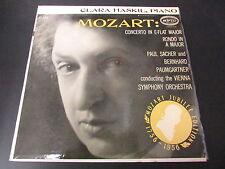 "CLARA HASKIL, piano   MOZART   JUBILEE 1956   EPIC LC 3162   USA   LP 33T 12"""