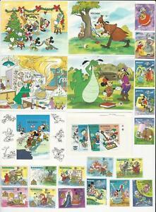 Antigua Redonda, Postage Stamp, #Lot A  Mint NH Disney Mickey Mouse, JFZ