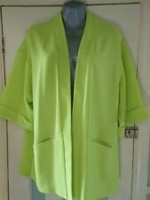 NWT lime coloured loose fitted box jacket hip length UK14 TU