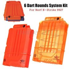 6 Dart Rounds Cartridge Clip Storage Kit For Nerf N-Strike 9927 Elite Toy Gun