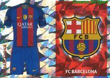 FCB1-2 CLUB LOGO - HOME KIT FC.BARCELONA STICKER CHAMPIONS LEAGUE 2017 TOPPS