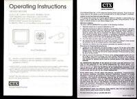 Vintage CTX 1451ES 1451GM CRT VGA Monitor Replacement Manual 1994 IBM PC MS-DOS