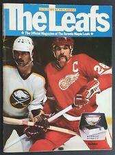 1981 Maple Leaf Gardens 50th Anniversary NHL Program Toronto - Detroit Red Wings