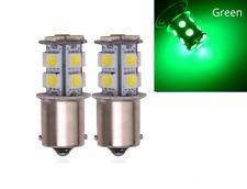 2x BA15S LED Ampoule P21W 13 SMD Vert Veilleuses pour voitures et motos