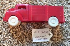 LAPIN VINTAGE RED PLASTIC STAKE SIDE TRUCK TOY - MADE USA