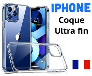 Coque iphone 12 11 Pro Max MINI SE 2020 XR X XS MAX 6  7 8 en SILICONE Ultra fin