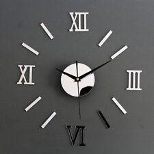 3D selbstklebende Uhr Wanduhr Spiegel Deko Dekor Wandtattoo Wandsticker