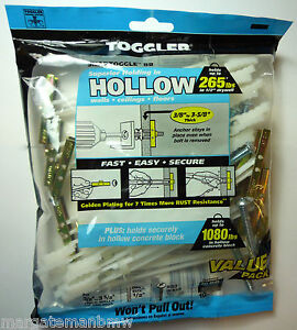 M6 Genuine Toggler Heavy Duty Wall Mounts Toggle/Snaptoggle Plasterboard Drywall