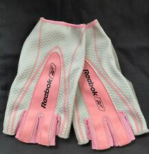 Reebok Pink, Grey & Silver Finger Less Weight Life Gloves - Size Medium  NWT!